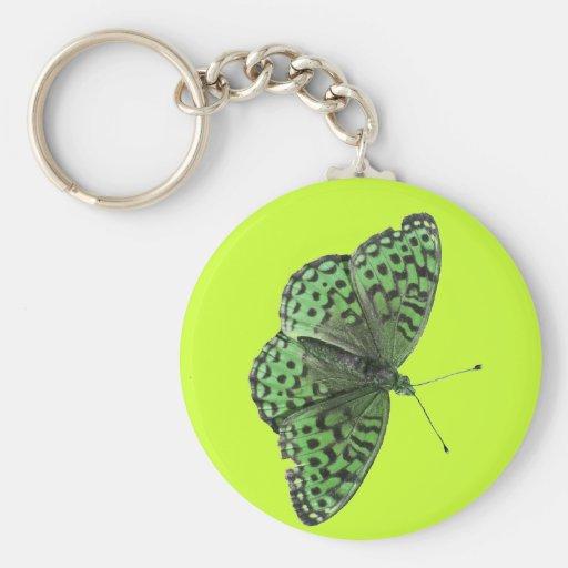 Green Butterfly Keychain