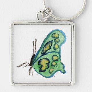 Green Butterfly Keychain Pendant