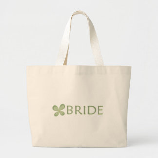 Green Butterfly Large Tote Bag
