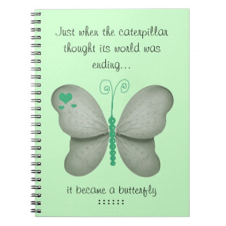 Green Butterfly Notebook