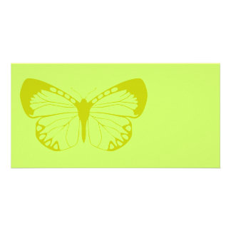 Green Butterfly Photo Card Template
