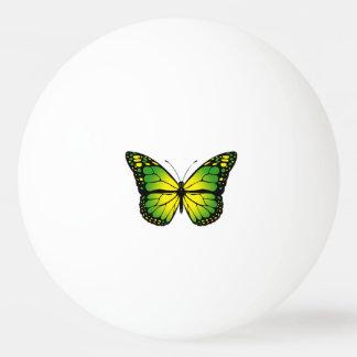 Green butterfly ping pong ball