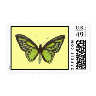 Green Butterfly Postage