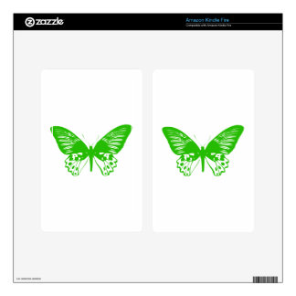 Green Butterfly Kindle Fire Decal
