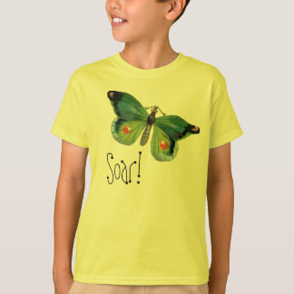 Green Butterfly Soar! Comes in Kids and Adult Size T-Shirt