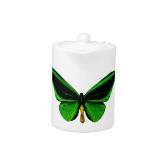 Green Butterfly Teapot