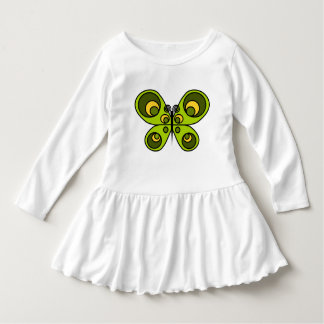 Green Butterfly Toddler Ruffle Dress