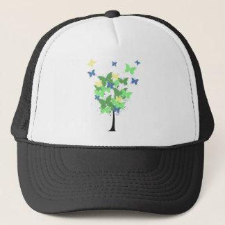 Green Butterfly Tree Trucker Hat