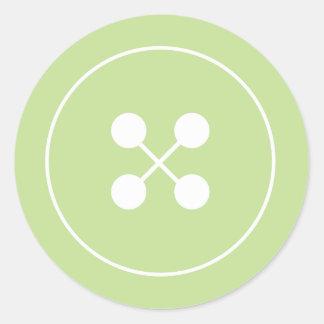 Green Button Baby Shower Favor Sticker
