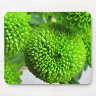Green Button mums Mouse Pad