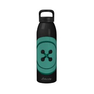 Green Button Water Bottle