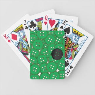 Green Buttons Bicycle Playing Cards