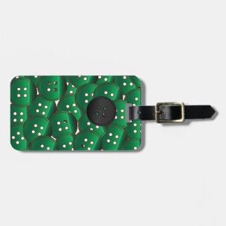 Green Buttons Luggage Tag
