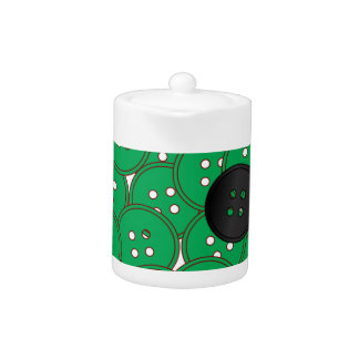 Green Buttons Teapot