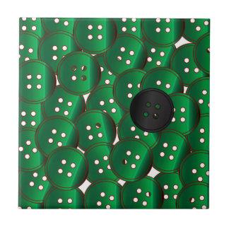 Green Buttons Tile