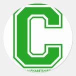 Green C Stickers