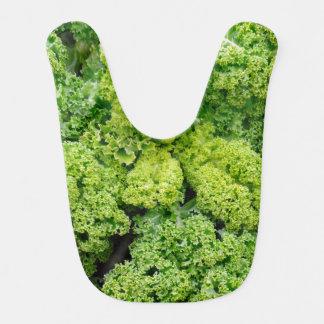 Green cabbage baby bib