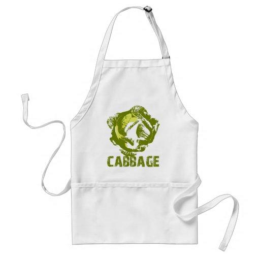 Green Cabbage Pop Art Apron