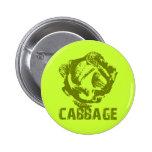 Green Cabbage Pop Art Button