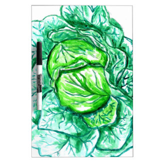Green Cabbage Watercolor 2 Dry-Erase Board