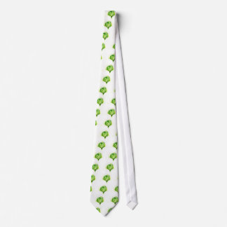 Green Cabbage Watercolor Neck Tie