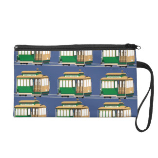 Green Cable Cars Wristlet
