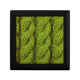 Green cable knitting keepsake boxes