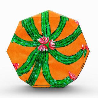 Green Cactus 2 Acrylic Award