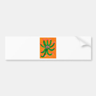Green Cactus 2 Bumper Sticker
