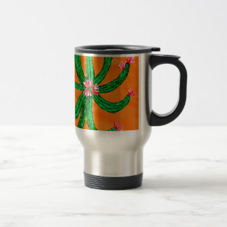 Green Cactus 2 Travel Mug