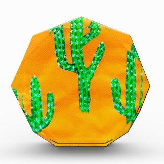 Green Cactus 3 Acrylic Award