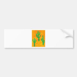Green Cactus 3 Bumper Sticker