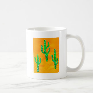 Green Cactus 3 Coffee Mug