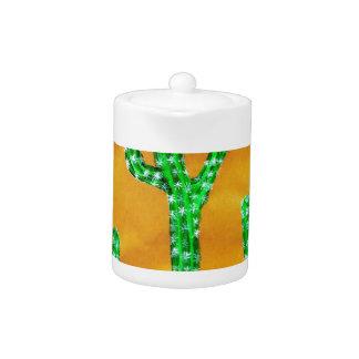 Green Cactus 3 Teapot