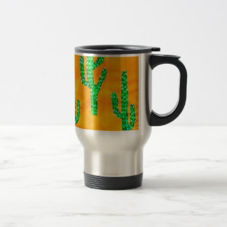 Green Cactus 3 Travel Mug