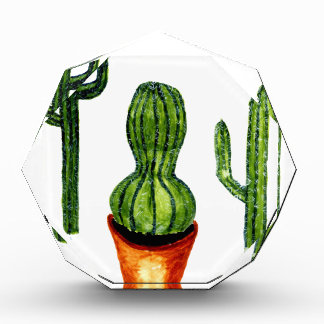 Green Cactus 4 Acrylic Award