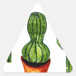 Green Cactus 4 Triangle Sticker