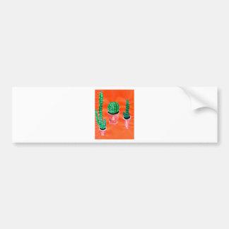 Green Cactus Bumper Sticker