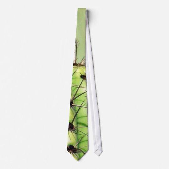 Green Cactus Thorns Tie