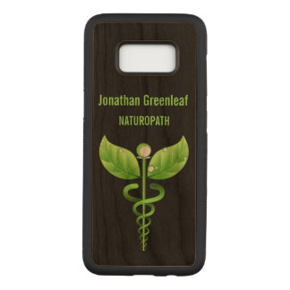 Green Caduceus Alternative Medicin Medical Symbol Carved Samsung Galaxy S8 Case
