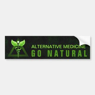 Green Caduceus Alternative Medicine Bumper Sticker Car Bumper Sticker