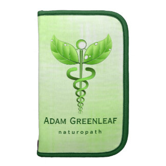 Green Caduceus Alternative Medicine Folio Planner Organizer