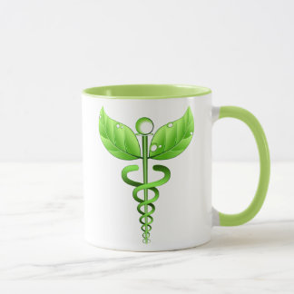 Green Caduceus Alternative Medicine Holistic Icon Mug