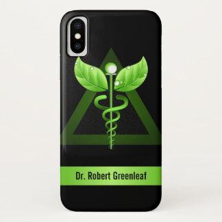 Green Caduceus Alternative Medicine Medical Symbol iPhone X Case