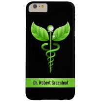 Green Caduceus Alternative Medicine Medical Wooden Barely There iPhone 6 Plus Case