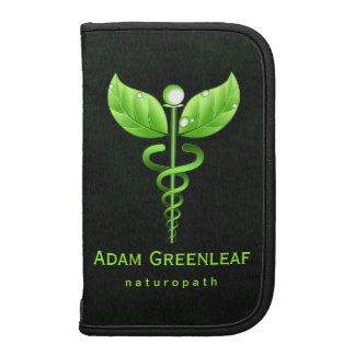 Green Caduceus Holistic Health Folio Planner Planners