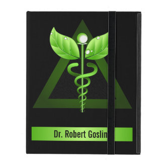 Green Caduceus Holistic Health iCase iPad Cases iPad Cover