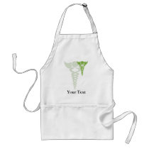 green caduceus medical gifts adult apron