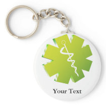 green caduceus medical gifts keychain