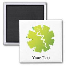 green caduceus medical gifts magnet